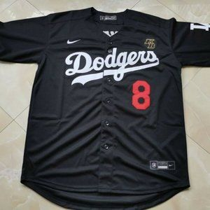Kobe Bryant Black Jersey Dodgers 8 24